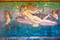 Venus in Pompei Stock Foto's