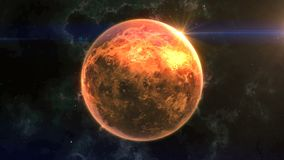 Venus Reveal nello spazio stock footage