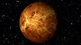 Venus Rotating en un fondo de la estrella Loopable stock de ilustración