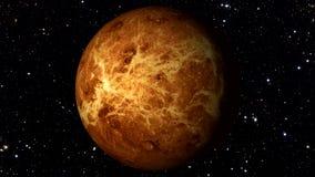 Venus Rotating en una estrella móvil Backgrund Loopable libre illustration