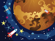 Venus in the Space Stock Photography