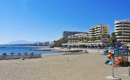Venus-Strand in Marbella, Spanien Lizenzfreies Stockfoto