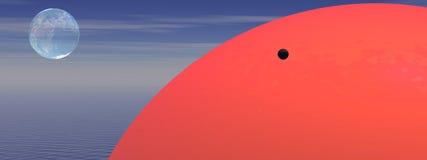Venus and sun Royalty Free Stock Image