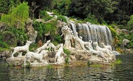 Venus und Adonis Fountain, Caserta-Garten Lizenzfreie Stockfotografie