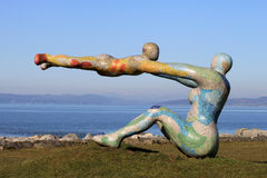Venus- und Amorskulptur, Morecambe-Promenade Lizenzfreie Stockbilder