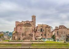 Venus y templo de Roma, Roma, Italia Fotografía de archivo