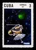 Venusik, 10de Ann Van de Lancering van de Eerste Kunstmatige Satelliet serie, circa 1967 Stock Afbeeldingen