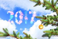 Venuta del nuovo anno Fotografia Stock Libera da Diritti