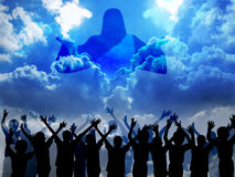 Venuta di Gesù Immagini Stock