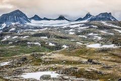 Veobrean glacier seen from Glittertind mountain (Jotunheimen Nat Stock Photo