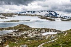 Veobrean glacier seen from Glittertind mountain (Jotunheimen Nat Royalty Free Stock Image
