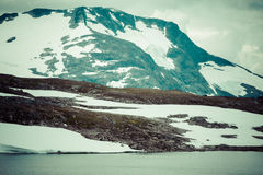 Veobrean glacier seen from Glittertind mountain (Jotunheimen Nat Royalty Free Stock Photography