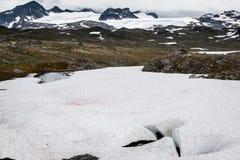 Veobrean glacier seen from Glittertind mountain (Jotunheimen Nat Stock Image