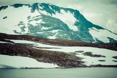 Veobrean lodowiec widzieć od Glittertind góry (Jotunheimen Nat Fotografia Royalty Free