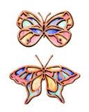 verão da borboleta da aquarela Fotografia de Stock