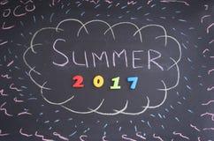 verão 2017 da inscrição Imagem de Stock Royalty Free