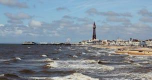 Verão da parte dianteira de mar de Blackpool Fotografia de Stock