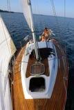 verão da vela steering fotografia de stock