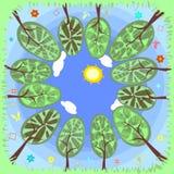 Verão das árvores Imagens de Stock Royalty Free