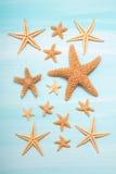 verão: Decoração marítima com estrelas do mar Foto de Stock