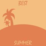 verão do cartaz do verão o melhor Oferta da agência de viagens Ícone da palma ilustração do vetor