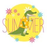 verão do crocodilo Fotografia de Stock Royalty Free