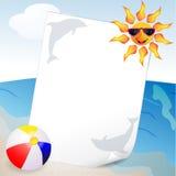 Verão e fundo do mar Imagens de Stock Royalty Free