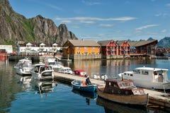 Verão em Lofoten Imagens de Stock