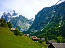 verão em montanhas de Alpes, Suíça Imagem de Stock Royalty Free
