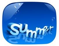 Verão em um fundo azul Fotografia de Stock Royalty Free