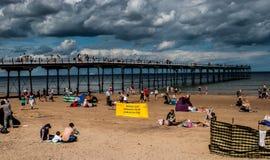 verão em uma praia inglesa Foto de Stock Royalty Free