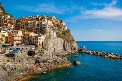 verão ensolarado em Cinque Terre Fotografia de Stock Royalty Free