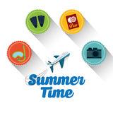 verão, férias e trave Imagem de Stock