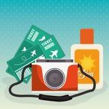 verão, férias e trave Imagem de Stock Royalty Free
