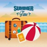 verão, férias e trave Fotos de Stock