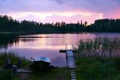 verão finlandês do por do sol do verão imagens de stock royalty free