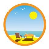 Verão, mar, descanso. Imagens de Stock