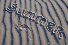 Verão na areia fotos de stock