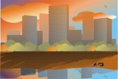Verão na cidade ilustração stock