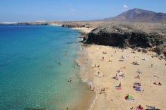 Verão na praia de Lanzarote Imagens de Stock Royalty Free