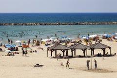 verão na praia em Telavive fotografia de stock