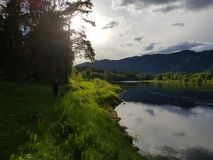 verão pelo rio Fotografia de Stock Royalty Free