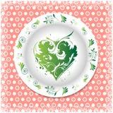 verão Placa branca com ornamento florais Imagem de Stock Royalty Free