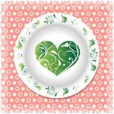 verão Placa branca com ornamento florais Imagens de Stock Royalty Free