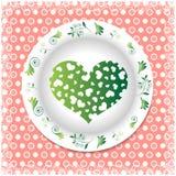 verão Placa branca com ornamento florais Imagens de Stock