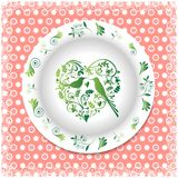 verão Placa branca com ornamento florais Fotografia de Stock Royalty Free