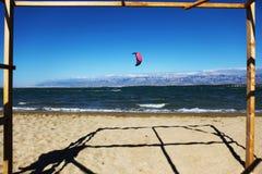 Verão que kiteboarding Imagens de Stock
