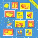 verão stamps-1 Foto de Stock Royalty Free