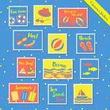 verão stamps-2 Foto de Stock