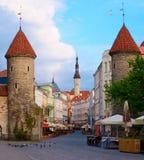 Verão Tallinn - porta de Viru. Fotografia de Stock Royalty Free